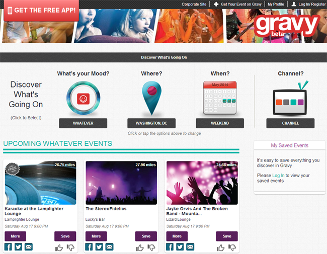 FindGravy,com Homepage