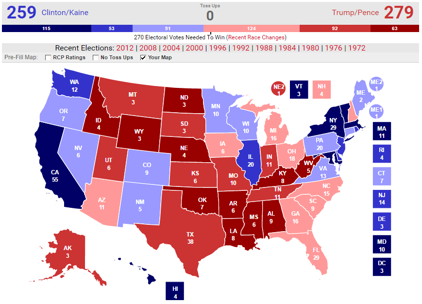 Electoral Map - 2016 Presidential Election Prediction - Mike Hackmer
